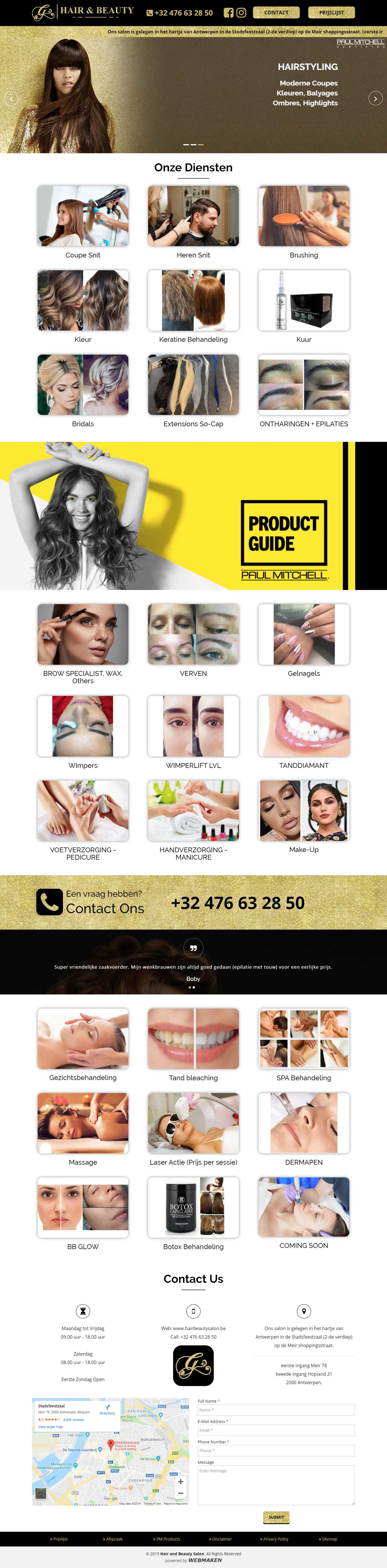 Hair and Beauty Salon | Gorgeous Themes